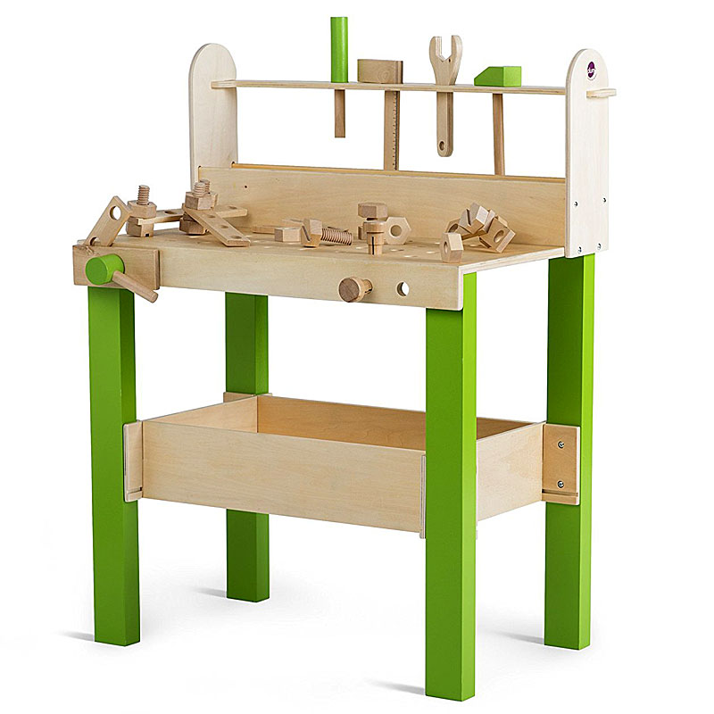 Plum Lumberjack Wooden Workbench with Wooden Accessories
