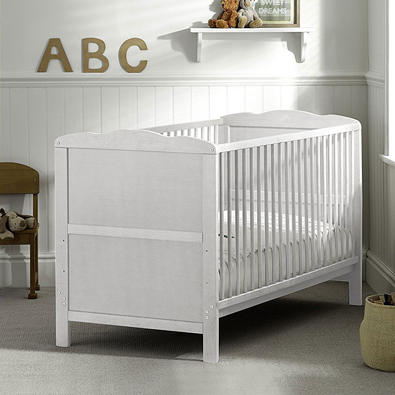 Saplings Kirsty Wooden Cot Bed (White)