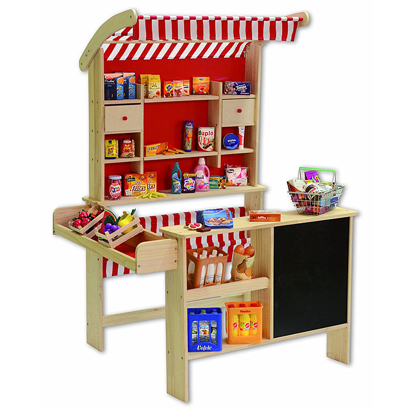 Tanner 3406 Wooden Big Market Stand - Wooden Play Shop