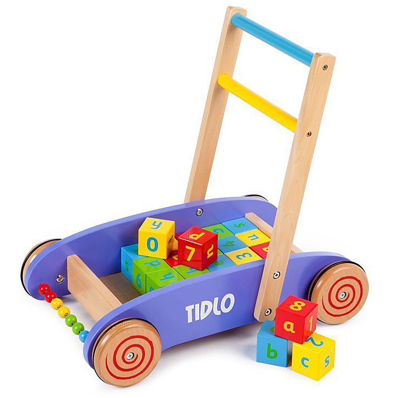 Tidlo New Design Baby Walker with Alphabet Wooden Blocks