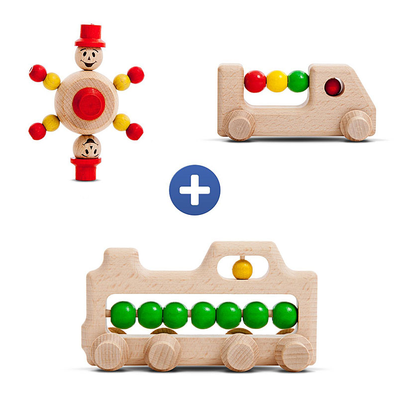 Trihorse - Extension Set for Trihorse Wooden Marble Runs