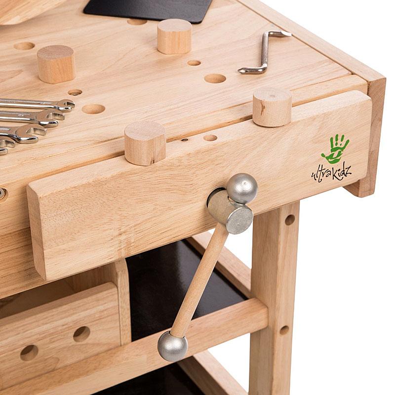 ultrakidz children 39 s workbench made of solid wood with tool set ultrakidz children 39 s workbench. Black Bedroom Furniture Sets. Home Design Ideas