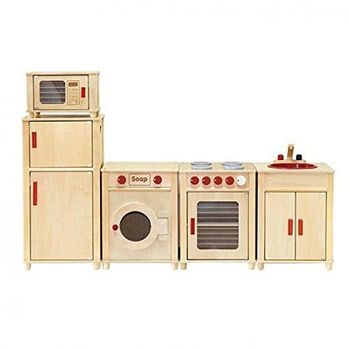 Viga Kids Wooden Kitchen Set - Fridge and Oven Reviews