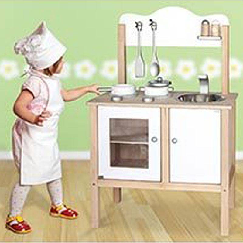 Wood Play Kitchen White viga play kitchen noble wooden toy (white) reviews viga play
