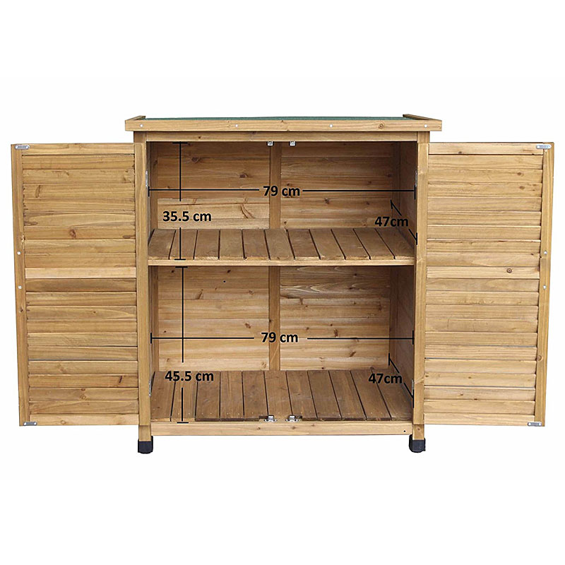 Easipet Wooden Garden Shed for Tool Storage or Log Storage